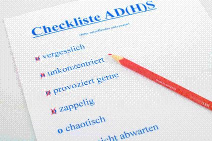 Checkliste mit ADS/ADHS-Symptomen