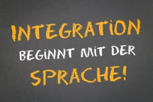 Text: Integration beginnt mit der Sprache!