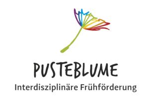 Samenfädchen in bunt mit Schriftzug Pusteblume - Interdisziplinäre Frühförderung