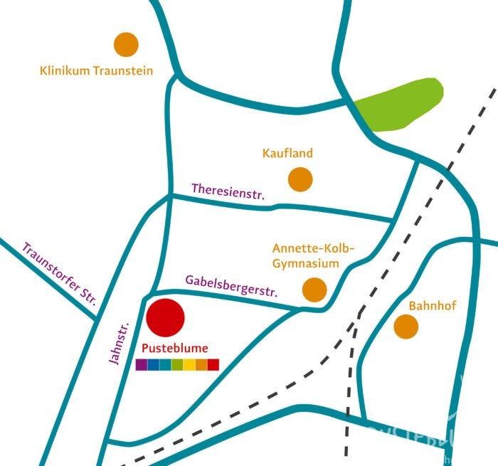 Lageplan der Pusteblume in Traunstein